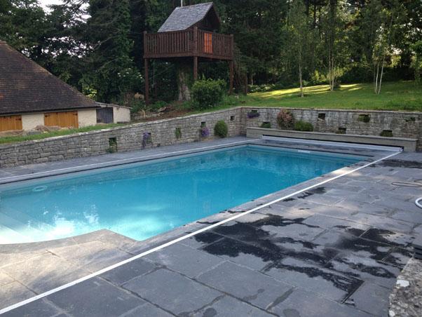 Black Slate Pool Copings External Use Swimming Pools