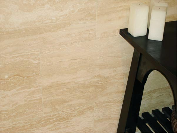 Ivory Vein Cut Travertine - Filled & Polished
