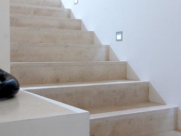 Jura Beige Limestone Stairs   Sandblasted U0026 Brushed