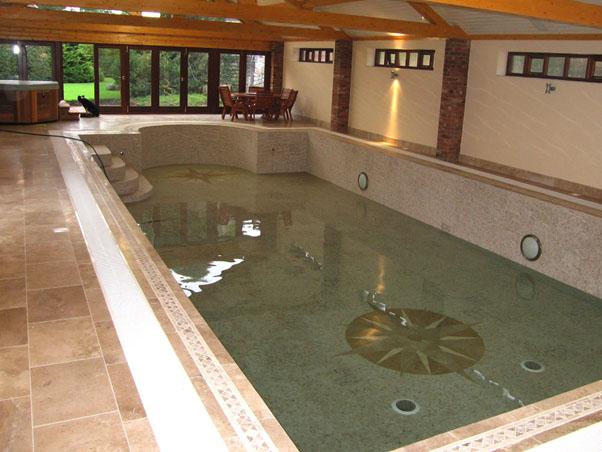 Noce & Classic Travertine Swimming Pool