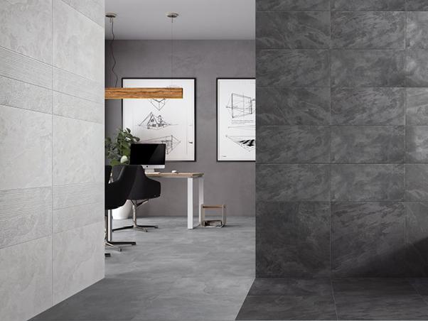 Tech Slate Porcelain Tiles - White