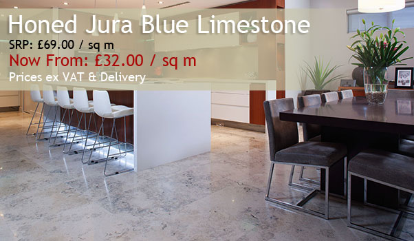 Honed Jura Blue Limestone